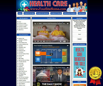HEALTH CARE STORE - Turnkey Affiliate Website + Dropship +