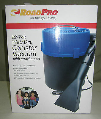 "NEW RoadPro RPSC-807 10"" 12V Super Wet/Dry Vacuum with 1 Gallon Canister"