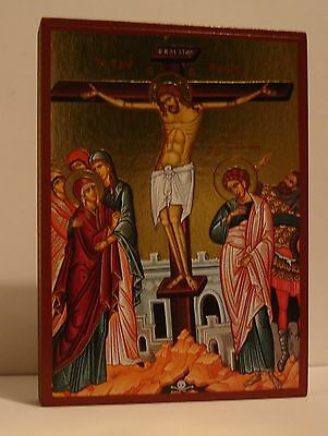 Ikone Kreuzigung Jesus crucifixion icon icone crocifissione икона icono Stavrosi