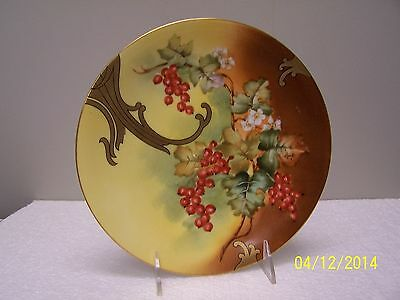 T & V Limoges Factory Decorated Plate - BOYSENBERRY'S
