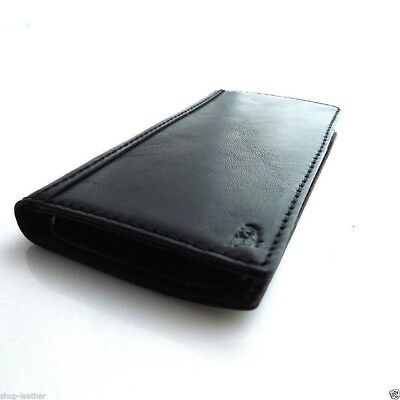 genuine leather for samsung galaxy s5 Case book wallet cover flip handmade black
