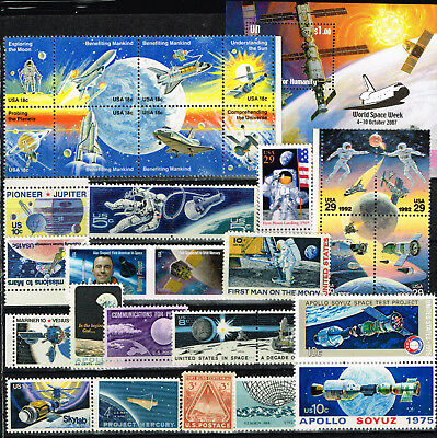 US Space Exploration History stamps collection MNH