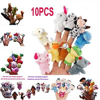 hot Velvet Finger Animal Toy Puppet Play Learn Story Party Bag Fillers Farm Zoo