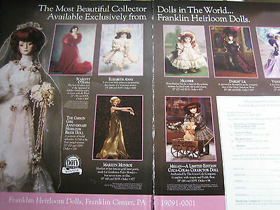 Franklin Heirloom Doll AD /Gibson Bride &7 Models ADVERTISEMENT ONLY