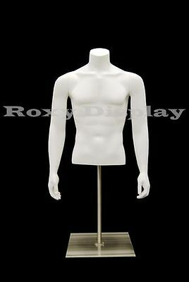 Male Fiberglass Torso With nice body figure and arms #MD-EGTMSABW
