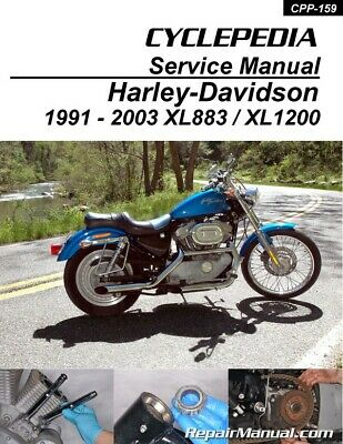 harley davidson xl883 xl1200 sportster printed cyclepedia motorcycle rh picclick com Sportster 1200 Custom Review 2009 sportster 1200 custom manual