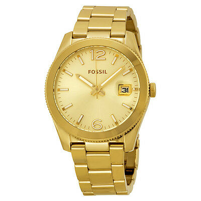 Fossil Perfect Boyfriend Champagne Dial Gold-tone Ladies Watch ES3586
