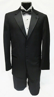 56 Regular New Mens Designer Calvin Klein 2 Button Wool Tuxedo Jacket Big & Tall