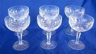 American Cut Crystal 6 Sherbet Glasses Vega Pattern Rose Stem Small 8 oz Lot B