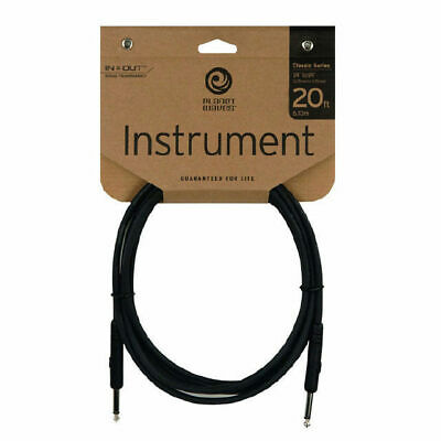 Planet Waves 20 Foot Straght Guitar Cable Lead Classic Series