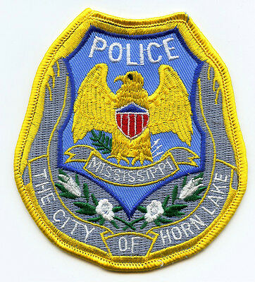 old vintage HORN LAKE MISSISSIPPI MS POLICE PATCH
