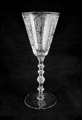 Elegant Cambridge Glass DIANE Etched WINE Goblet- No.3122-FREE Shipping!