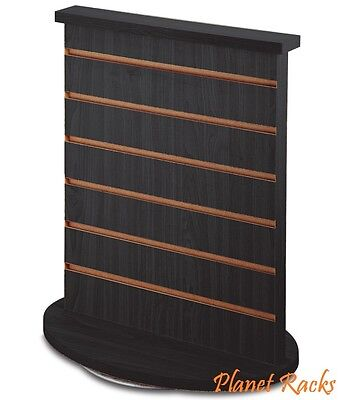 Planet Racks Rotating Double Sided Slatwall Counter Display Fixture - Black