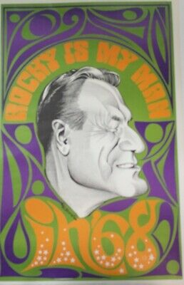 Nelson Rockefeller Caricature Campaign Poster