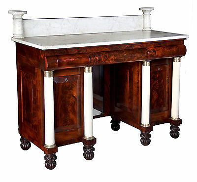 SWC-Important Mahogany/Marble Classical Server/Sideboard, New York, c.1825-35