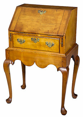 SWC-Rare Diminutive Maple Queen Anne Lady's Desk on Frame, Salem, c.1760