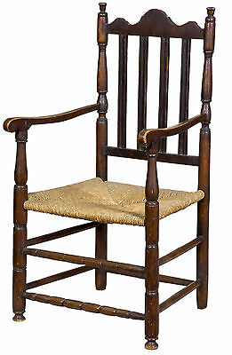SWC-Maple William & Mary Bannister Back Armchair, Massachusetts, c.1740-50