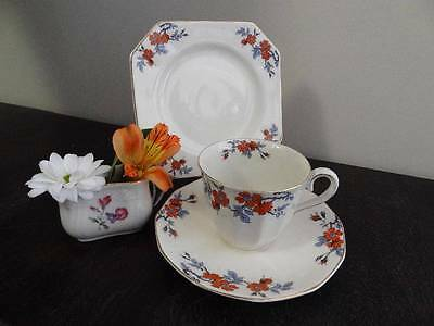 1930s MYOTT TRIO HAND PAINTED ORANGE FLOWERS #2301