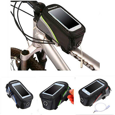Bicycle Cycling Bike Sport Front Frame Tube Phone Holder Bag Case Accessories
