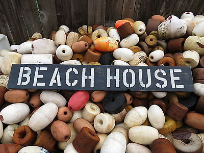 38 Inch Beach House Wood Hand Painted Sign Nautical Seafood (#s524)