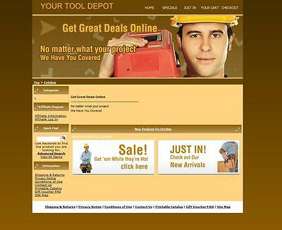 Construction Tools, Equipment Store, Tool Box Ecommerce Website for Sale.