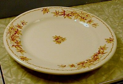 "NEW! SALESMAN FACTORY SAMPLE SHENANGO RIMROL 7"" PLATE Brown Autumn Leaf Pattern"