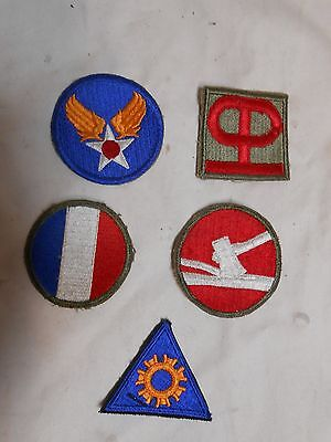 "Lot Of ""5"" Misc Vintage Army Military Cloth Patch Patches"