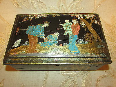 Large Antique Collectable Riley's Toffee Tin Box  With Lock- 1920's