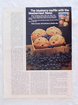 1970 Magazine Advertisement Page For Betty Crocker Wild Blueberry Muffin Mix Ad