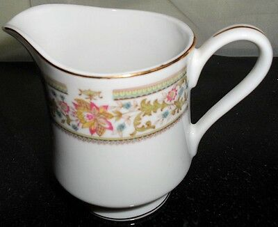 Collectible Acsons Diamond White China Floral Creamer Milk Pitcher Table  Japan