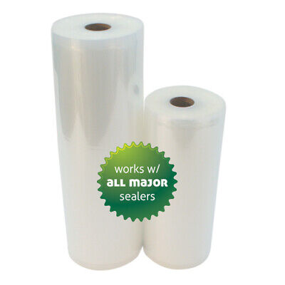 HUGE COMBO 8 x 50 & 11 x 50 Vacuum Sealer Rolls 2ROLLS -Food & money saver!