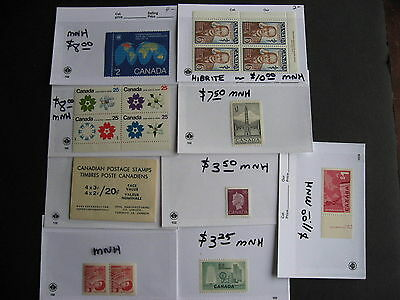 CANADA small but mighty group of better MNH stuff in sales cards part 2 of 5