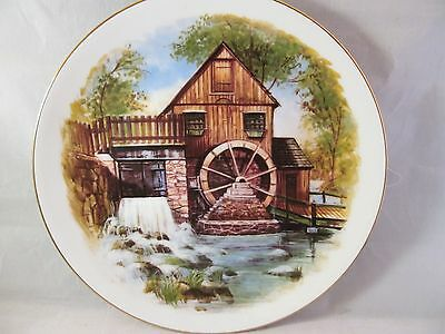 Limited Edition OXMOOR GALLERY Collector Plate Country Living Legacy, WATERMILL