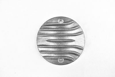 Harley Ironhead Shovelhead Evo Aluminum finned ribbed igintion points cover - V