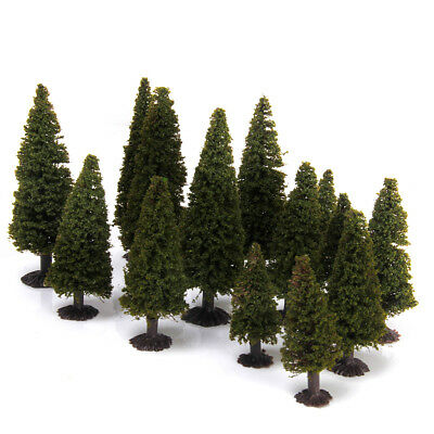 Boxed 15 Multi Scale Cedar Model Trees Train Railway Diorama Scenery HO N Z