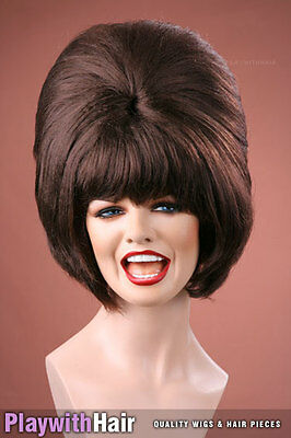 Funky Retro BEEHIVE Party Wig - COLOUR CHOICES!