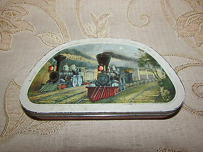 Vintage Collectable Edward Sharp & Sons Ltd. '' Trains '' Tin Box