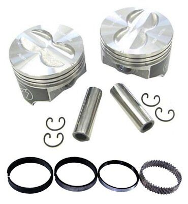 "Speed Pro FMP H345DCP60 350 Flat Top Pistons 5.7/"" Press Fit Moly Rings Set Chevy"