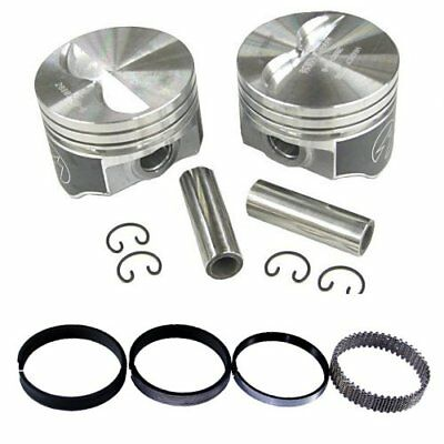 Speed Pro H660CP Chevy 327 Flat Top Hyper Pistons & Moly Rings Kit STD Bore SBC