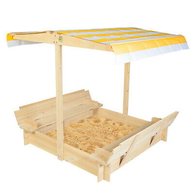 Lifespan Latest Sand Pit Outdoor Kids Wooden Toy Sandpit With Canopy