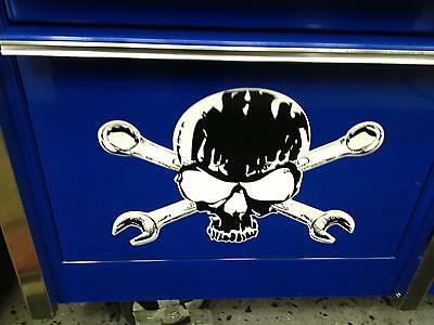 Skull and Cross Wrenches decal matco mac craftsman