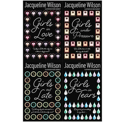 The Girls Collection Jacqueline Wilson 4 Books Set(Girls in Tears,Girl out Late)