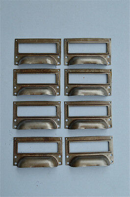 Set Of 10 Steel Filing Cabinet Label Handles File Drawer Handle Furniture Fd1