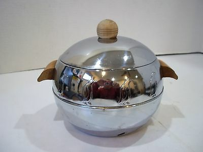 Vintage Chrome West Bend PENGUIN Ice Bucket, Hot and Cold Server