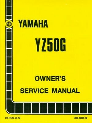 1980 Yamaha YZ50G Motorcycle Owners Service Manual