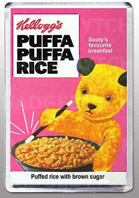 PUFFA PUFFA RICE SOOTY cereal box  LARGE FRIDGE MAGNET  - CLASSIC RETRO!