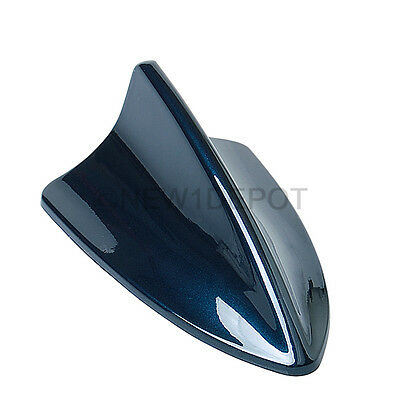 Blue Shark Fin Style Car Roof Top Mount Aerial Antenna Mast Decor For Nissan ND