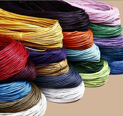 10m Waxed Cotton Cord Various Colours And Lengths Available Jewelry Making 1mm