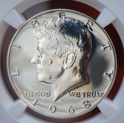 1968 S US Kennedy Half Dollar Silver Proof NGC PF67