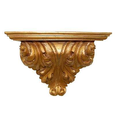 Hickory Manor Leaf Scroll Bracket/Gold Leaf - 6636GL